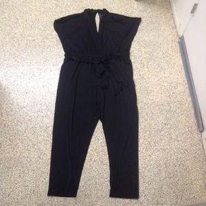 Eloquii black jersey jumpsuit plus size 24 3X